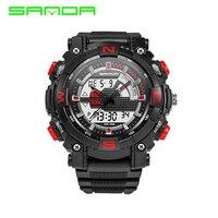SANDA Military Sport Watch Men Top Brand Luxury Famous Electronic LED Digital Wrist Watch For Men
