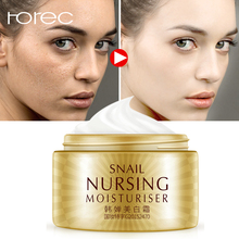 ROREC Snail Face Cream Hyaluronic Acid Whitening Anti-aging Collagen Moisturizer Nourishing Serum Day Skin Care