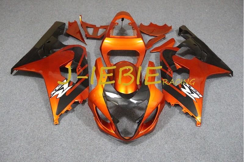 Orange Black Injection Fairing Body Work Frame Kit for SUZUKI GSXR 600/750 GSXR600 GSXR750 2004 2005