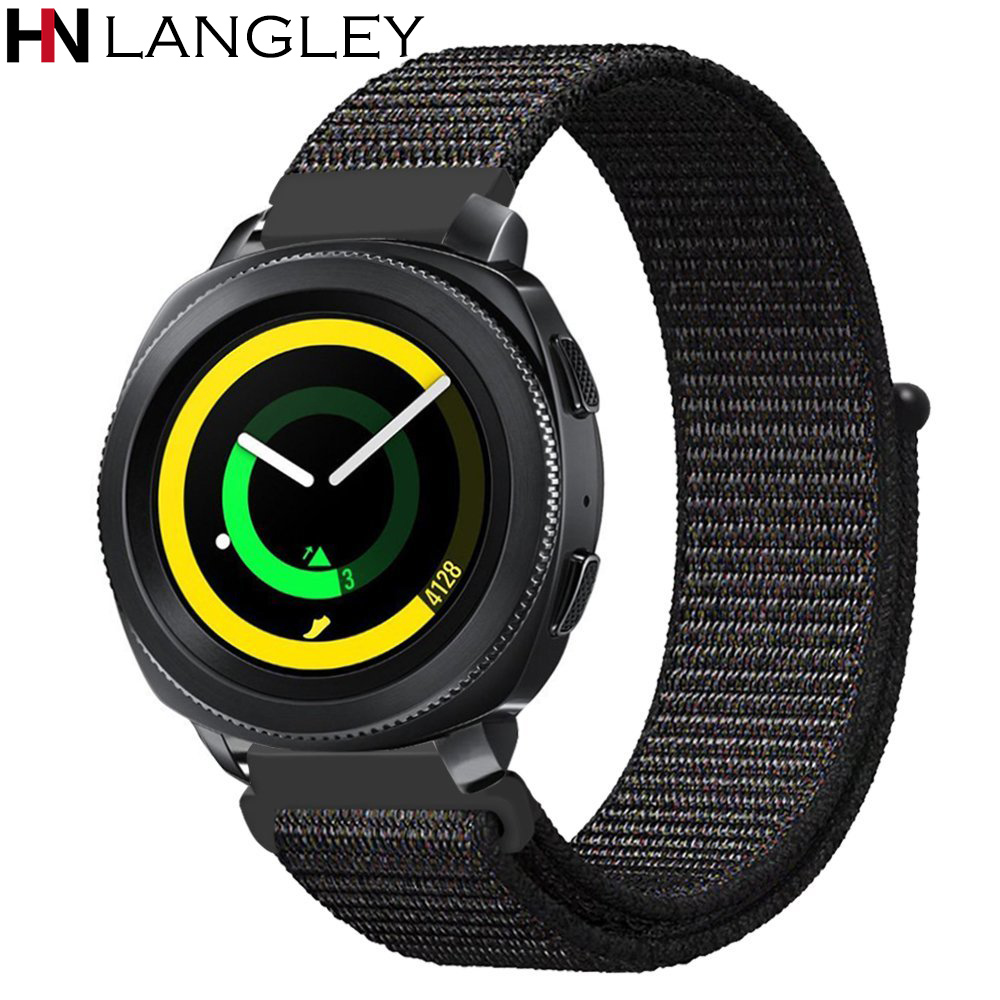 20 22 mm Quick Release Woven Nylon Watch Band Wrist Strap for Samsung Gear Sport Gear S2 Classic Gear S3 Frontier Classic