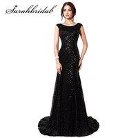 Elegant Mermaid Mother Of The Bride Pant Suits Vestido De Madrinha Black Sequined Long Mothers Dresses