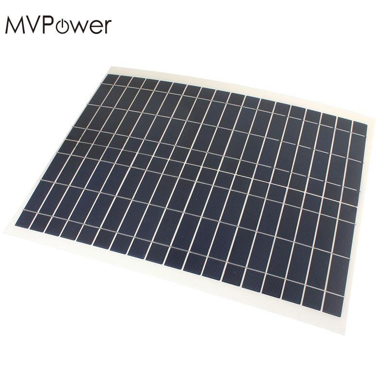 MVPower Outdoor 20W 12V Solar Power Panel Charger High Efficiency Kit-Diy Foldable Solar Panel Camping DIY