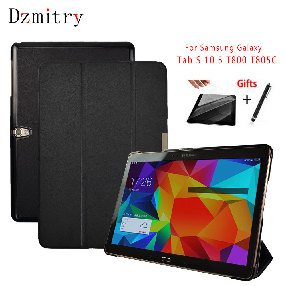 Slim Flip Stand  Coque Funda Magnet Cover For Samsung Galaxy Tab S 10.5 T800 T801 T805C tablet case+protective film+Stylu PenSlim Flip Stand  Coque Funda Magnet Cover For Samsung Galaxy Tab S 10.5 T800 T801 T805C tablet case+protective film+Stylu Pen