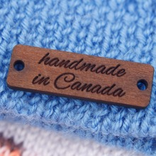 Personalized Product Logo, Wood Tags for Kniting (WDBQ072)