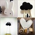 Скандинавские настенные крючки для детской комнаты  крючок для одежды с кроликом  украшение для детской комнаты  скандинавский крючок для д...