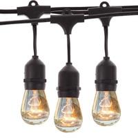 AC 100 120V 9m Vintage Outdoor Backyard Patio Globe Copper String Lights Black Cord Clear Glass