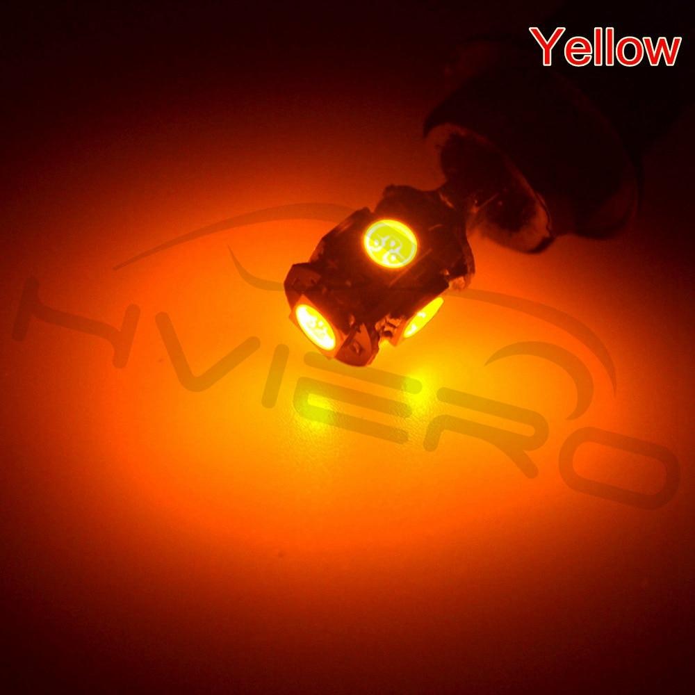Hviero T10 Canbus White Blue Red 5smd 5050 Led Car Light W5w 194 168 Error Bulbs DC 12V Wedge Lamp Band Decoder Sign Trun Light