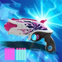 2018 New Pink Flower Soft Bullet Toys Guns With Eva Bullet Arma Silah Pistol Toy Guns Juguetes For Chidlren Birthday Gifts Kids