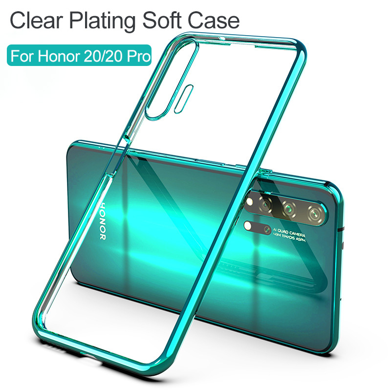 Silicone-Case Back-Cover Crystal Clear Honor Bright 20-Pro Huawei for 20-case/3d/Laser-plating/..