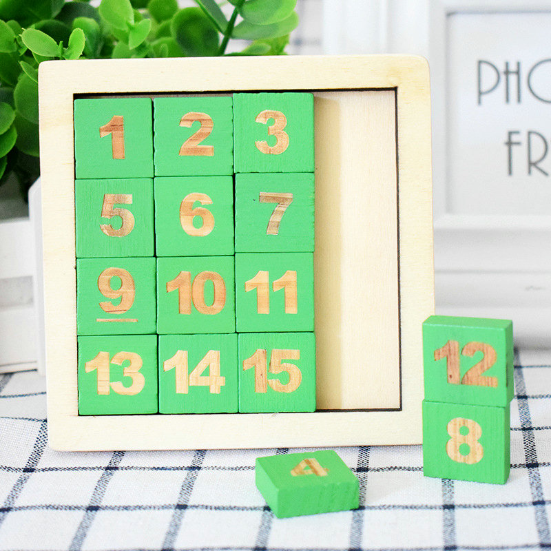 Children's Educational Number Puzzles Toys Wooden Digital Klotski Classic Montessori Intelligence Game Baby Wood Sudoku toy gift