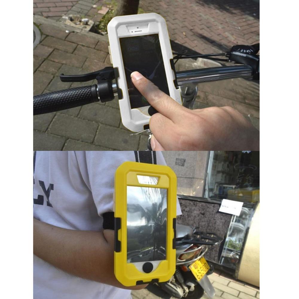 imágenes para Choque Cubierta A Prueba de Agua IPX8 Besegad Bike Motocicleta de La Bicicleta Sostenedor Del Soporte del Montaje del manillar para el iphone 5S 5 S SÍ iPhone5