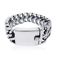 316L Stainless Steel Bracelet, Fashion Exaggerated 2.4cm Wide Big Bracelet Titanium Steel Bangle