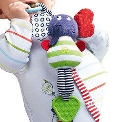 Слон Детская игрушка-погремушка новая Младенческая плюшевая Мобильная детская игрушка детская кроватка автомобиль Висячие погремушки Bebe ...