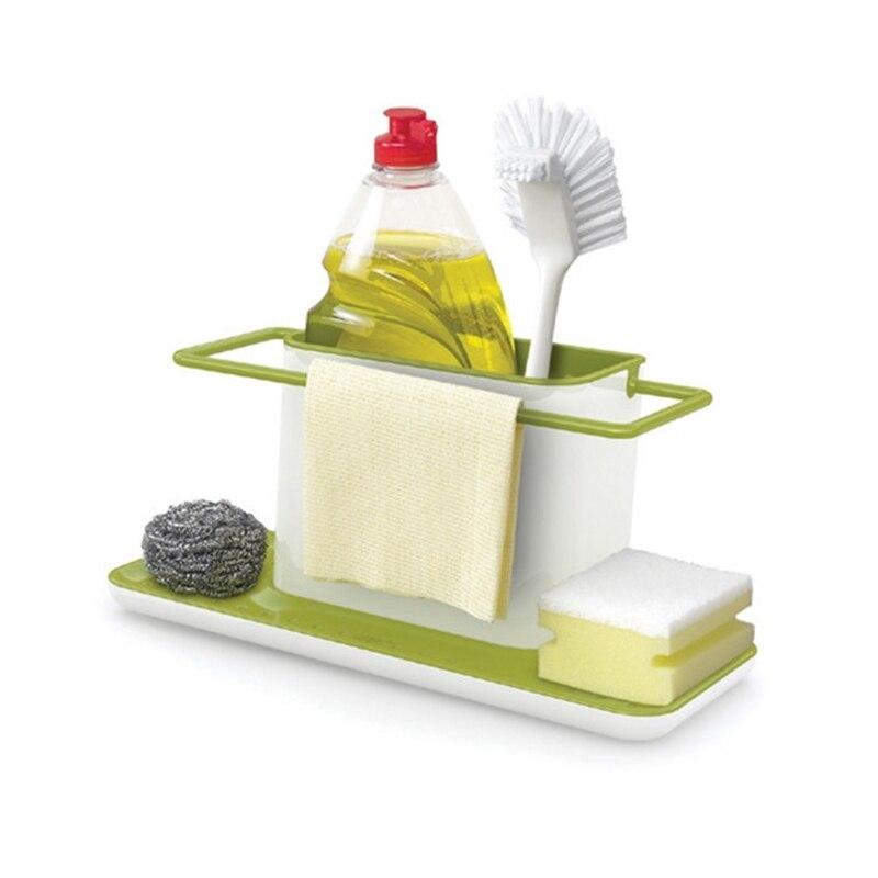Bathroom Kitchen Box Draining Rack Dish Self Draining Sink Storage Rack Kitchen Organizer Stands Utensils Towel Shelves 1