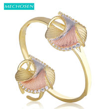 MECHOSEN Difficult Craft Special Design Jewelry Sets Bangle Ring 3 tones Brass Cubic Zirconia Celebrity Banquet Hand Accessories(China)