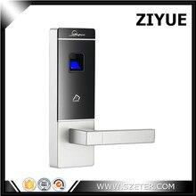 Intelligent Door Lock Smart Fingerprint Biometric Door Lock with Mechanical Key and Fob Card Key