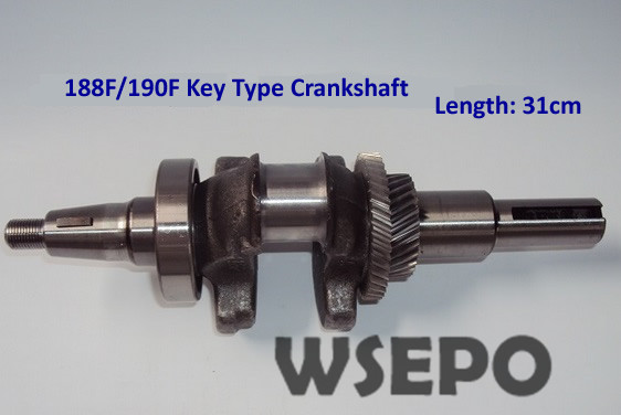 Chongqing Quality! Straight Key Type Crankshaft fits 188F/190F/GX390/GX420 Gasoline Engines Applied for water pump/Road Cutter chongqing quality 100% copper winding rotor