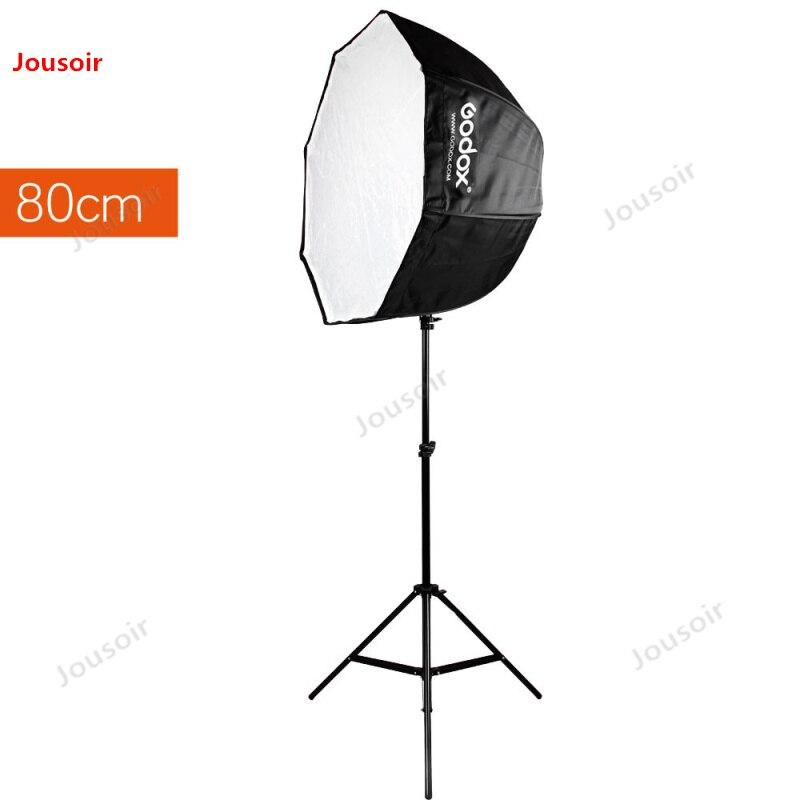 Godox Studio Photo 80cm 31.5in Portable octogone Flash Speedlight Speedlite parapluie Softbox réflecteur + 2m trépied T03 CD05 LB1