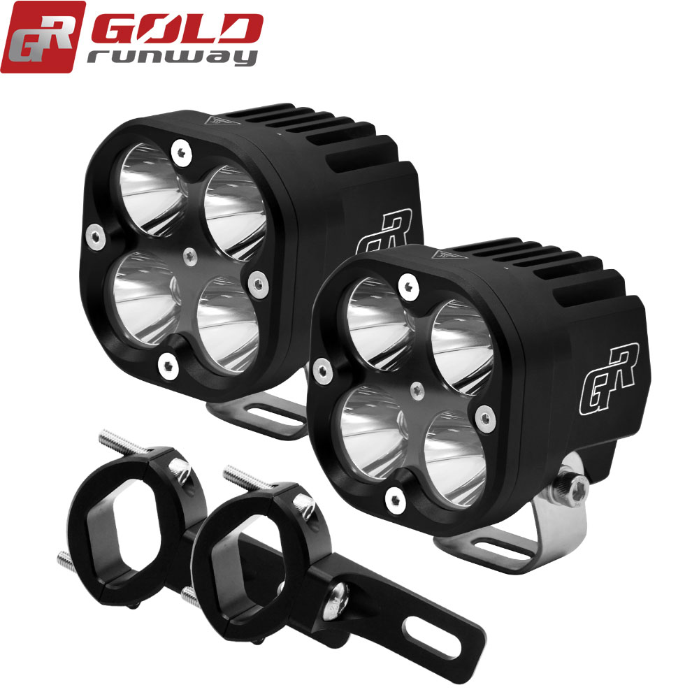 2PCS 40W Motorcycle Headlight 4200LM Motorbike new REALLY U3 LED Moto Driving Fog Spot Head Light