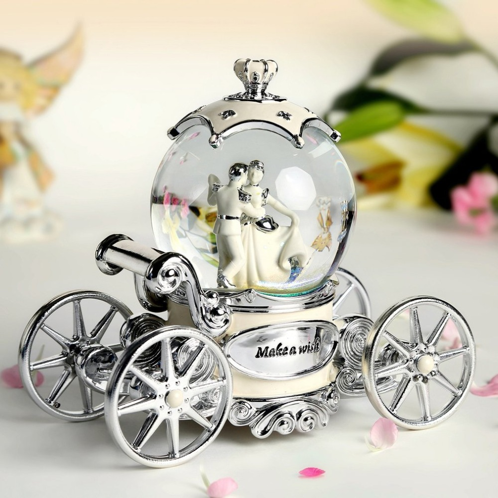 Car Bride Crystal Ball Music Box European style Bride crystal ball music box birthday gift creative Beautiful gift Dropshipping