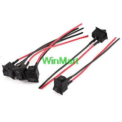 online get cheap ac switch wiring aliexpress com alibaba group 5 x on off rectangular diy auto car rocker switch wire ac 250v 6a