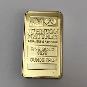 SLMTTG 1 Pcs Bar 24K Real Gold Plated Badge Souvenir Coin
