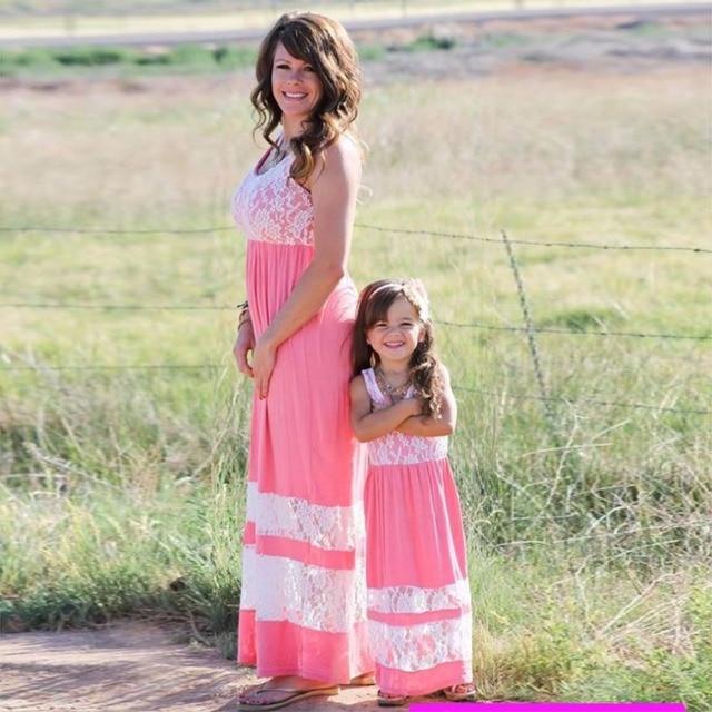 Mommy and me Puseky Vestidos Trajes A Juego de La Familia de Madre E ...