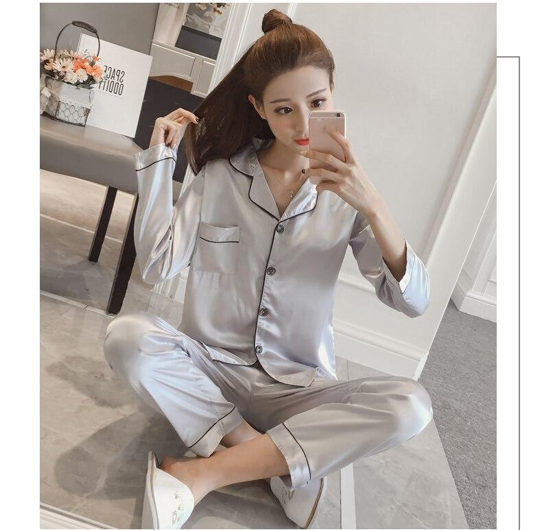 Silk Satin Pyjamas Set 15