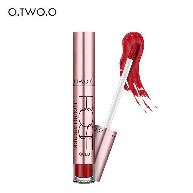 O dos O 12 colores mate lápiz labial líquido impermeable cosméticos maquillaje brillo de labios de larga duración fácil de usar Sexy hacer los labios