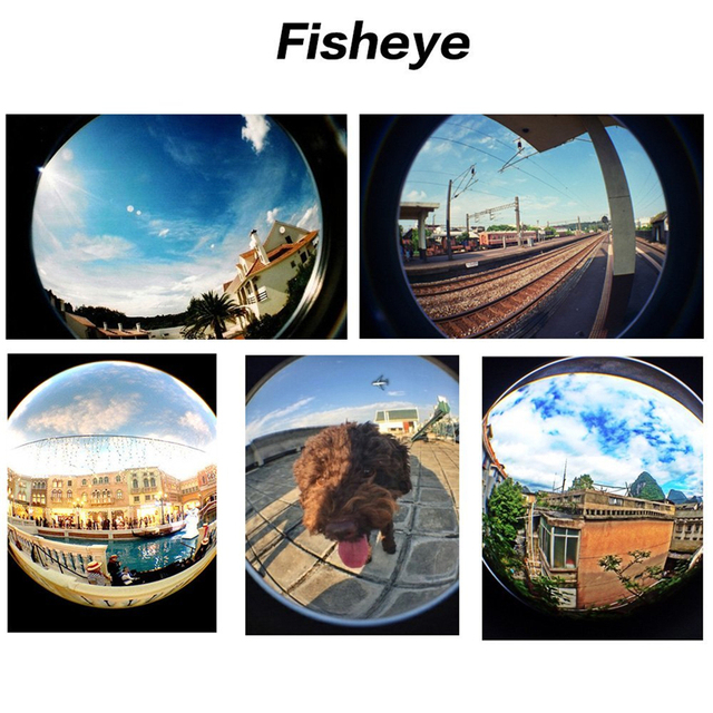 4 in 1 camera lens kit 2X telephoto lens +180 Fisheye Fish eye + Macro + 0.67X Wide angle Lens for iphone 6 Samsung HTC CL-85-2X 4