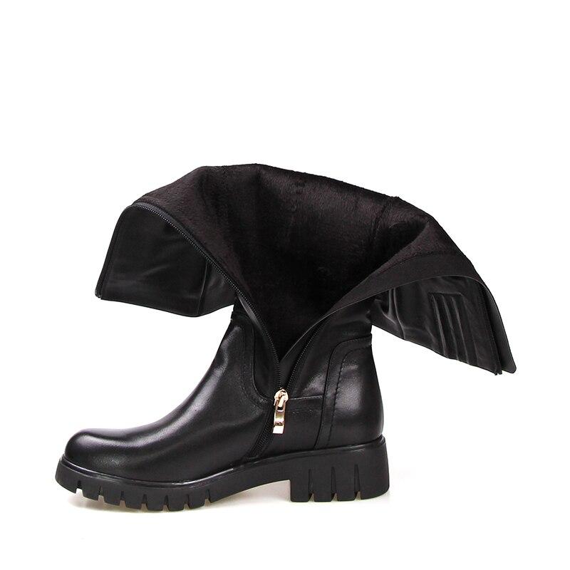 Genou Démarrage Short Liner Dame Laine Haut Plush Doublure Bottes Nouvelles Talons 2018 Thich Wool Zip Vache Équitation En Chaussures De D'hiver Rond Wetkiss Femmes Bout balck Cuir wg4zOwnq6