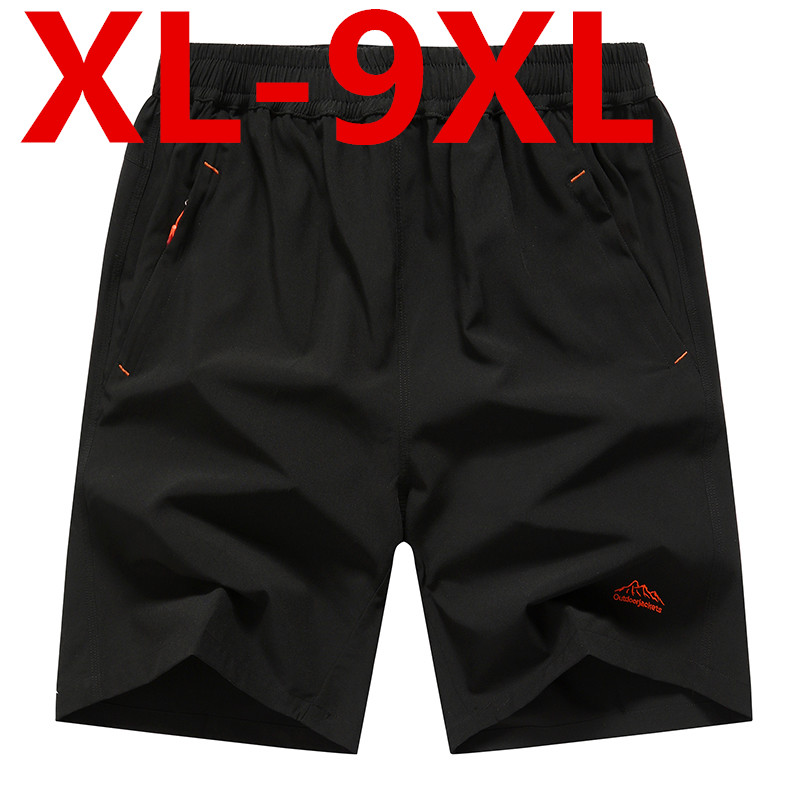 Big Size Elastic Waist Shorts Plus Big Size Men Summer Light Casual Beach Boardshorts Gasp Casual Shorts Men Quick-drying Shorts