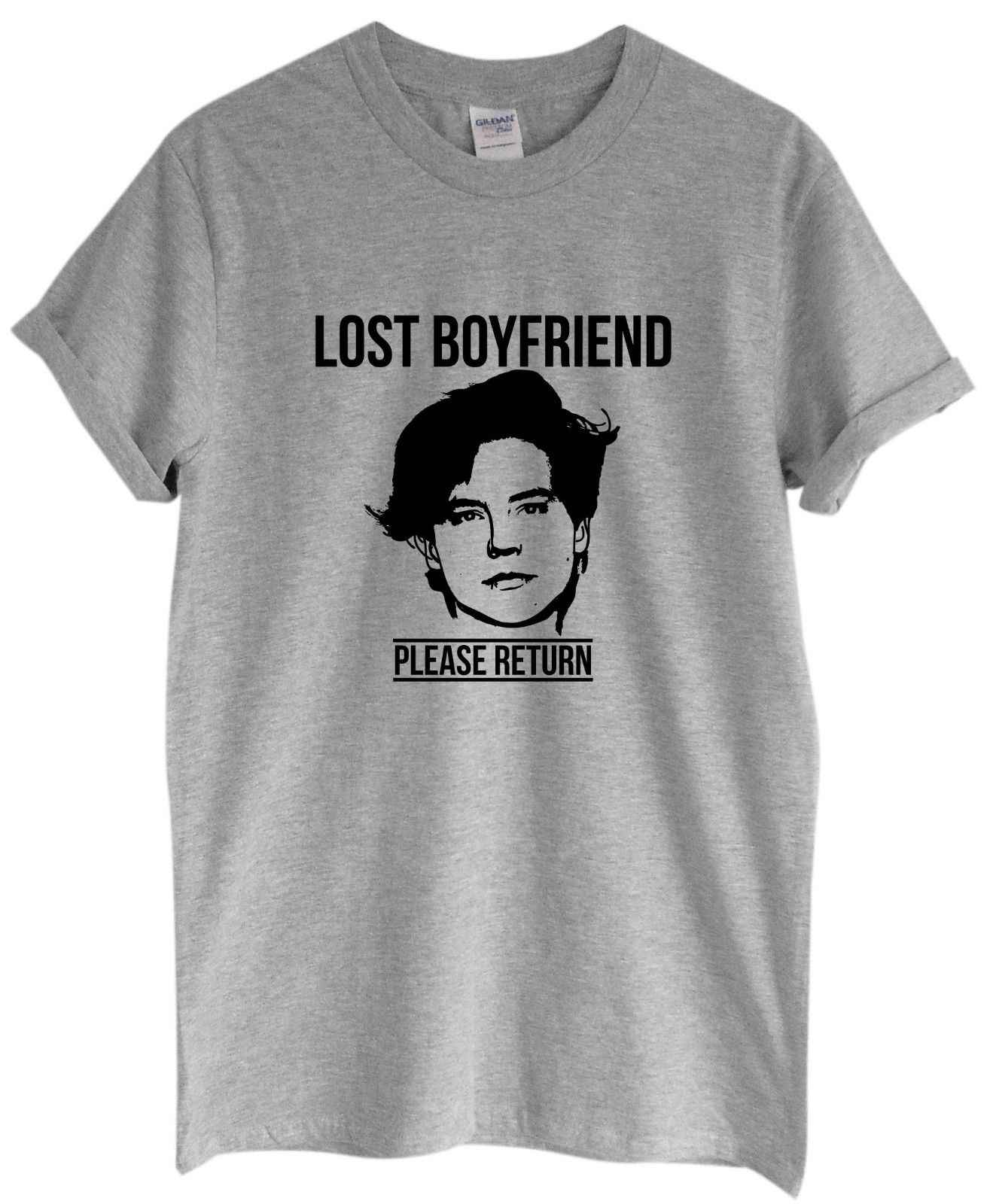 Lost Boyfriend Please Return Unisex T-Shirt | Cole Bughead Sprouse Kj Grunge ApaCartoon t shirt men Unisex New Fashion tshirt
