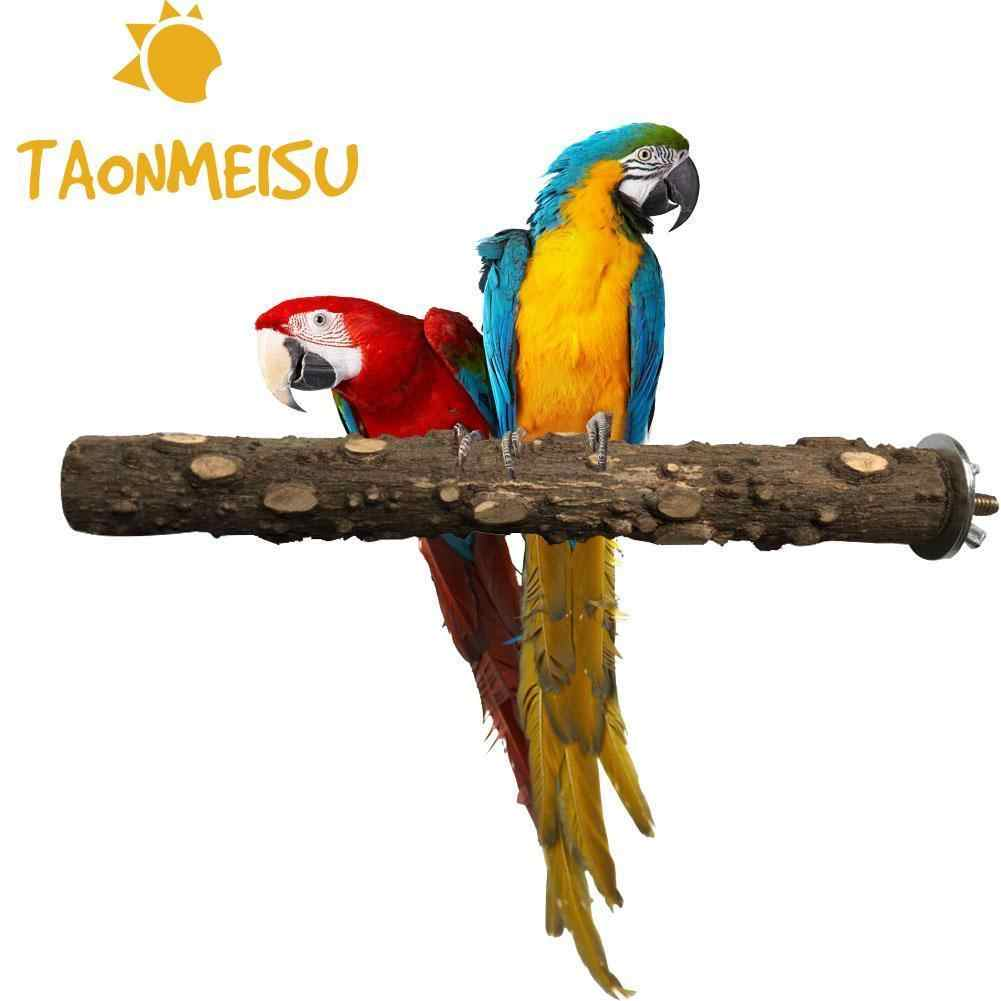 Lovely Pet Parrot Bird Cockatiel Parakeet Natural Toys Wood Standing Stick Perches Pet Bite Claw Grinding Portable Pet Product