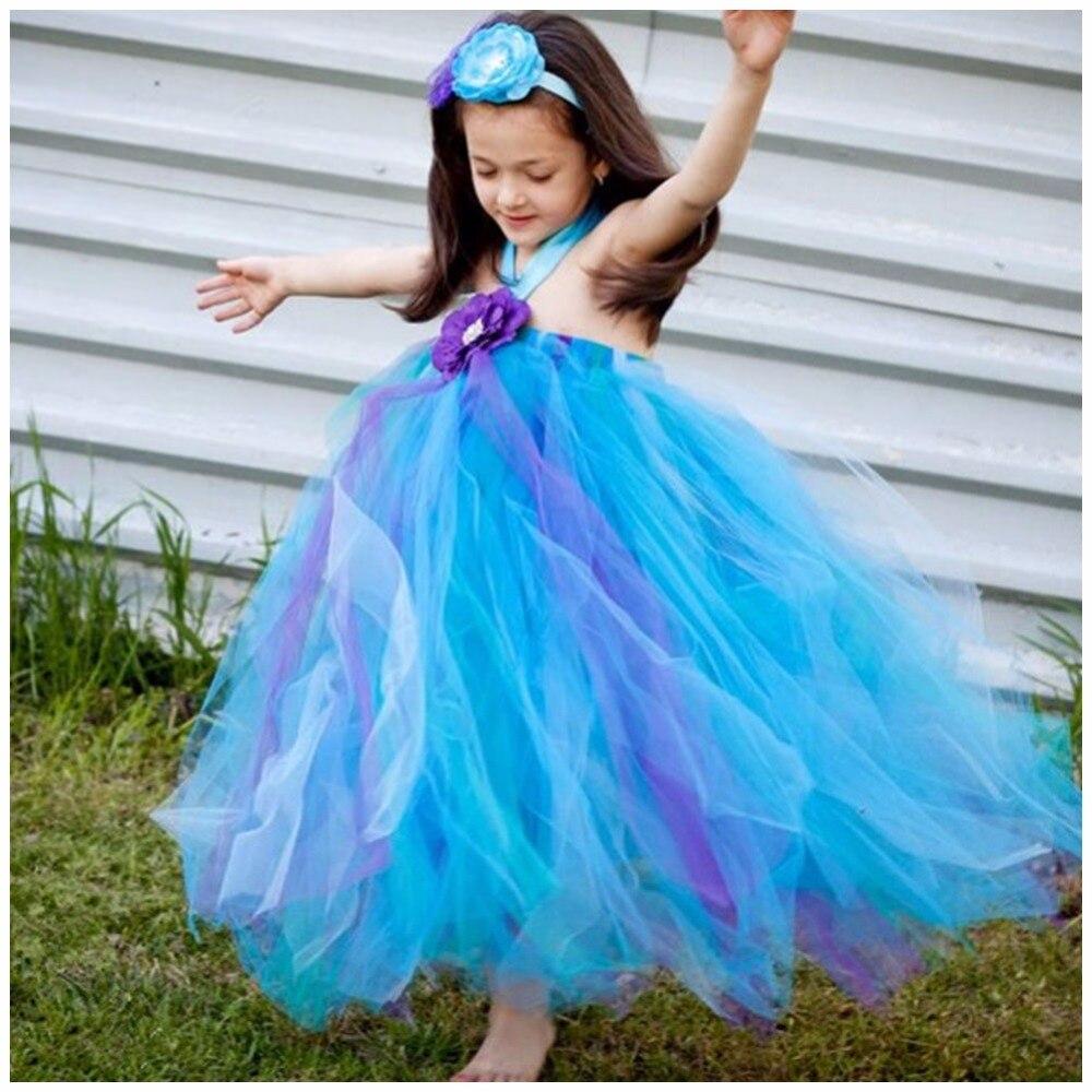 Party Fashion Girls Dresses Dresses Sleeveless Mesh Flowers Princess Dresses