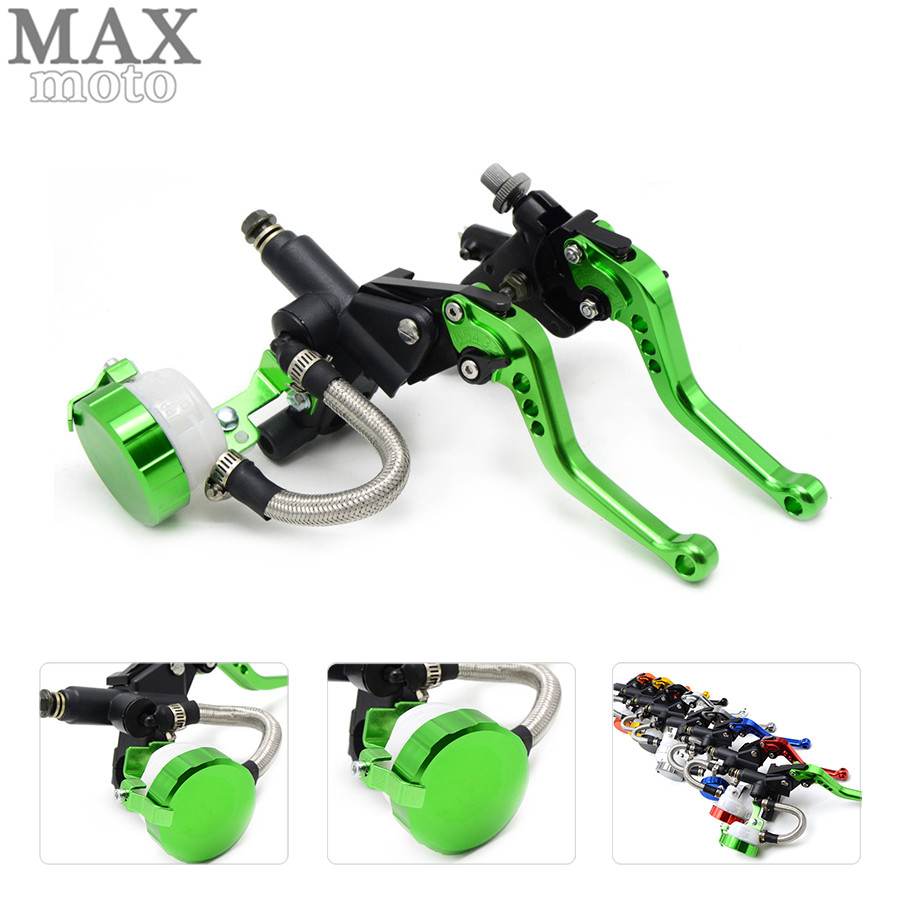free shipping motorcycle CNC Aluminum Adjustable brake clutch lever& brake pump For Ducati 959 Panigale 16 MONSTER 1200 14-16 free shipping motorcycle moped scooter cnc brake lever front
