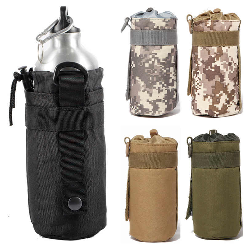 Outdoor Water Drinking Bottle Bag Sport Hiking Belt Holder Kettle Pouch Pack