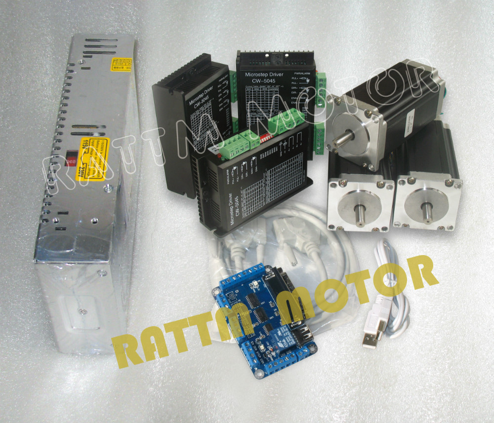 Eu Delivery Free Tax 3 Axis Cnc Kit Nema23 Stepper Motor