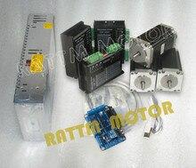 UK delivery free tax 3 axis CNC kit Nema23 Stepper Motor Dual Shaft 112mm 425oz 3A