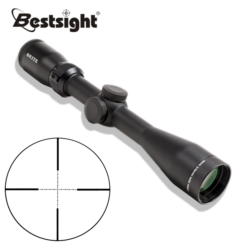 BRITE X3 3-9X40 Tactical Sniper Riflescope Half Mil Dot Reticle Rifle Scope Wide Angle Scope Reflex Sight Hunting Scopes sniper 3 9x40 rifle scope full size tactical optical sight illuminate mil dot riflescope hunting rifle scope with 25mm mount