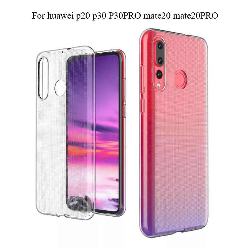 Transparent Case For Huawei P30 Pro P20 Clear Ultra Thin Soft Silicone TPU For Huawei Mate20 PRO P30 PRO Back Cover