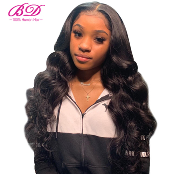 BD HAIR 250 Density Lace Front Human Hair Pre Plucked With Baby Hair 13x6 Deep Part Brazilian Remy Hair Body Wave Lace Wigs