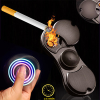 ZXZ Spinning Tops USB Cigar Lighter Hand Spiner Metal Anti Stress Figet Spinners Anxiety Relax Fidget