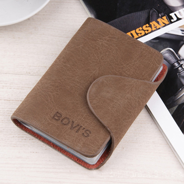 Fashion business credit card holder bags leather strap buckle bank fashion business credit card holder bags leather strap buckle bank card bag 24 card case id colourmoves