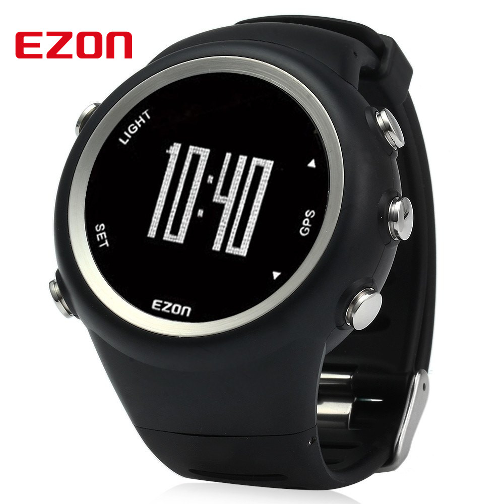 EZON T031 Men GPS Sport Watch Timing Running Pedometer ...