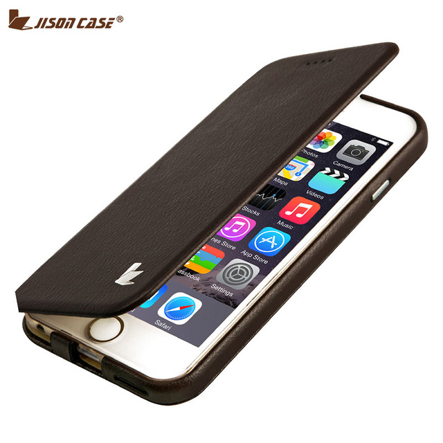 Jisoncase Capa for iPhone 6 6s Phone Case Leather Luxury