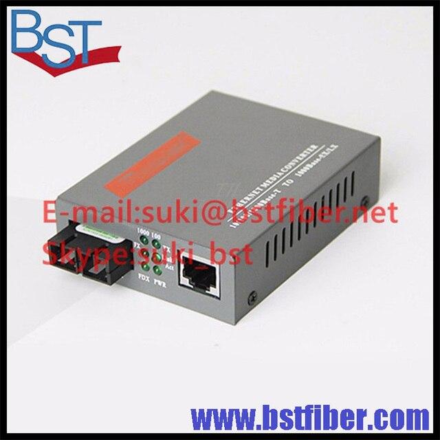 HTB-GS-03 Gigabit Волоконно-Оптический Media Converter 1000 Мбит Одиночный Режим Дуплекс, SC Порт 20 КМ
