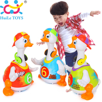 Free Shipping Huile Toys 3 Color 828 Swing Goose Electric Universal Funny Music Baby Toy