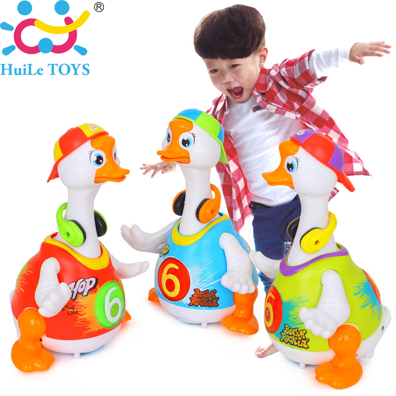 Toys For 18 : Smart dancing goose electronic walking toys with music