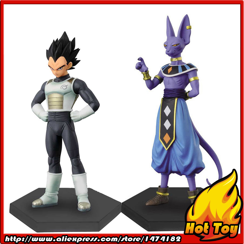 100% Original BANPRESTO Chozousyu Collection Figure Vol. 2 - Vegeta & Beerus from Dragon Ball Super original banpresto world collectable figure wcf the historical characters vol 3 full set of 6 pieces from dragon ball z